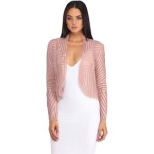 Dusty Pink Mesh Blazer